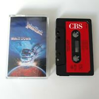 JUDAS PRIEST RAM IT DOWN CASSETTE TAPE 1988 RED PAPER LABEL CBS UK