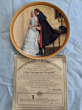 Edwin M. Knowles China The Unexpected Proposal Collector's Plate