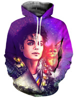 3D Print Michael Jackson Men Women Hoodie Sweater Sweatshirt Jacket Pullover Top