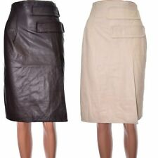 Topshop Leather Patternless Skirts for Women