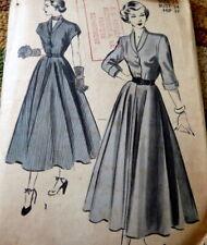 LOVELY VTG 1940s DRESS ADVANCE Sewing Pattern 16/34