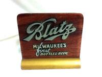 Blatz beer sign vintage wood metal register topper display 1940's old bottled