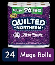 Quilted Northern Ultra Plush Toilet Paper, 24 Mega Rolls (= 96 Regular Rolls)