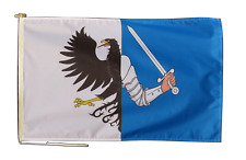 More details for connacht ireland flag with rope and toggle - various sizes