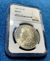 1881-CC Morgan Silver Dollar NGC MS64 • Superb Eye Appeal