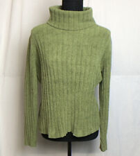 J. Jill Womens Green Turtleneck Chenille Sweater Size S