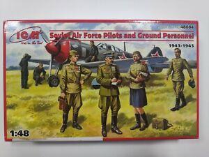 Soviet Air Force Pilots & Ground Personnel  (Plastic model kit) 1/48 ICM 48084