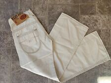 Womens NEW Replay Designer Linen Jeans 26x30 WV410A