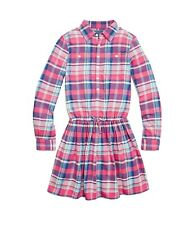 NWT Polo Ralph Lauren Big Girls Plaid Cotton Twill Dress