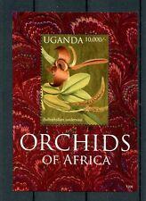 Uganda 2012 MNH Orchids of Africa 1v S/S Flowers Flora Bulbophyllum Stamps