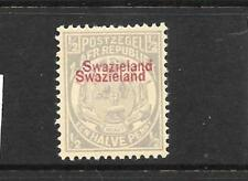 SWAZILAND  1892   1/2d   GREY  MLH  DOUBLE OVPT      SG 10b