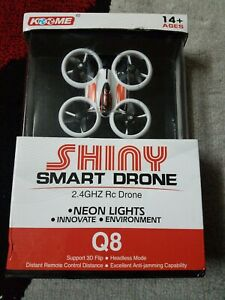 KOOME Shiny Smart 2.4 GHZ RC Drone  Upgraded Q8 NEON LIGHTS 3 D FLIP