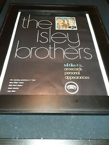 The Isley Brothers Tell It Like It Is Rare Original Promo Poster Ad Framed!