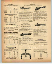 1942 PAPER AD Atlas Badger Power King Railroad Car Mover Tool Jim Crow Bender