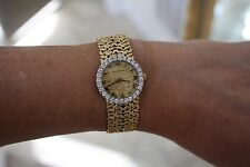 Bueche Girod Diamond 18 k solid gold ladies watch