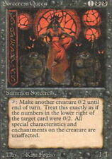 4 Sorceress Queen ~ Heavily Played 3rd Edition 4x x4 Playset MTG Magic Black Car