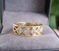 Superb Clogau Welsh 18ct Yellow & Rose Gold Celtic 5 x Diamond Ring  size  K / L