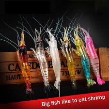9.5cm 6g Artificial Silicone Soft Bait Luminous Shrimp Mixed Color Spinner Crank