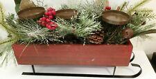 Sonoma Christmas Table Centerpiece Sleigh Holds 3 Pillar Candles