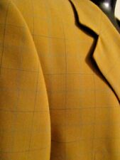 Vintage Rene Lezard Jacket/sport coat Wool Gold Window Pane Size 52 MADE GERMANY