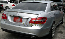 W212 Sedan Painted 792 Palladium Silver AMG look Trunk Spoiler+OE Type Roof lip