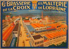GRANDE BRASSIERIE ET MALTERIE, LORRAINE, France, date unknown, 250gsm A3 Poster