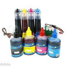 Continuous Bulk Ink System R2 and Refill Bottles for Epson Workforce WF-2650 CIS