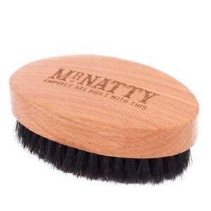Mr NATTY BEARD BRUSH SOLID BEECH TOP QUALITY 10 x 6 cm NATURAL HAIR + FREE GIFT