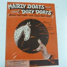 piano MAIRZY DOATS and DOZY DOATS 1943
