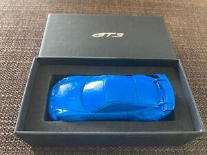 RAR Porsche 911 992 GT3 Briefbeschwerer Blau Paperweight Blue Painted 1:43 OVP