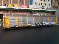 Ho Scale Walthers 89' Bi-Level Auto Carrier/Rack. Union Pacific, Custom Graffitt