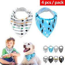 4pcs Adjustable Dog Bandana-Style Collar Soft Pet Puppy Neck Scarf Neckerchief