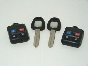 NEW Two blank ignition keys and 2 remotes for  LINCOLN
