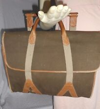 Vintage Dunhill Canvas & Leather Briefcase Attache Case