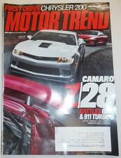 Motor Trend Magazine Camaro Z-28 , 911 Turbo S May 2014 031115R