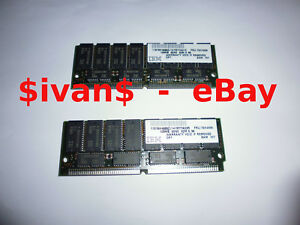 2x 128MB 72pin RAM SIMM Modules 60ns 32Mx36 KM44C16100AK-6 chips IBM FRU:76H4896