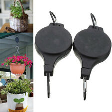 2Pcs Top Retractable Basket Hanging Pull Down Hanger Pulley For Garden Plant Pot