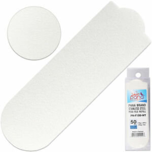 50PCS Stainless Steel Pedi Nail File Foot Pedicure Replacement Pads Grit 100