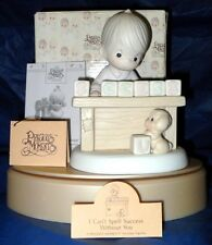"""PRECIOUS MOMENTS   """"I CAN'T SPELL SUCCESS WITHOUT YOU""""   ~NIB~    $115.00 VALUE"""