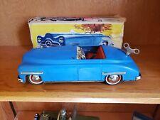 Vintage Antique GERMANY DISTLER 5 SPEED Key WIND-UP TOY CAR W/ STEERING & BOX