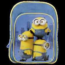 DESPICABLE ME sac à dos bleu et jaune MINIONS école L 27 x H 36 x P 11 cm  neuf