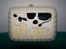 Vintage Japan Himark Gourmet Kitchen Ceramic Cow Mold Wall Hanging EUC