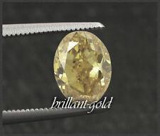 Diamant im Oval Schliff 0,52 ct mit Zertifikat, Natürlich Braungelb / Si1