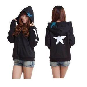 Black Rock Shooter Anime Hoodie Costume sweatshirt Sweater Clothing jacket