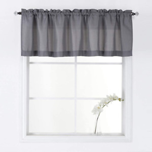 Valea Home Water Repellent Valance For Bathroom Window Waffle Woven Textured Sho