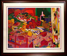 "Manel Anoro ""Mesa Con Frutas"" Hand Signed Serigraph with New Frame, still life"