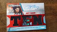 2012 TRISTAR TNA TENACIOUS AUTO TRIPLE RELIC EVENT WORN CARD JEFF HARDY RED 1/10