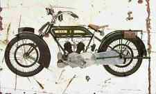 BSA model E 1920 Aged Vintage Photo Print A4 Retro poster