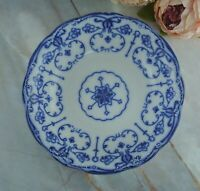 "Antique New Wharf Pottery ""Conway"" Semi Porcelain Flow Blue Vegetable Bowl 9"""