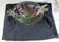 """Michael Aram footed silver bowl with birds pedestal candy dish 7.25"""" w dustbag"""